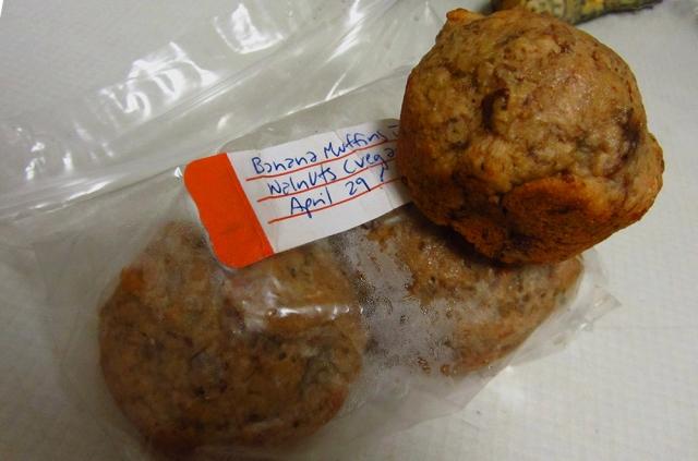Emily's banana walnut muffins